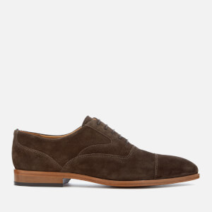 PS by Paul Smith Men's Tompkins Suede Oxford Shoes - Dark Brown