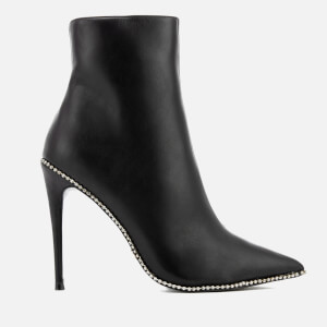 Kurt Geiger London Women's Rae Leather Heeled Shoe Boots - Black