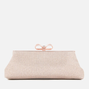 Ted Baker Women's Glitter Bow Evening Bag - Rose Gold