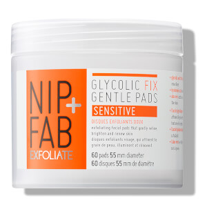 Toallitas suaves Glycolic Fix de NIP + FAB - Sensible 80 ml