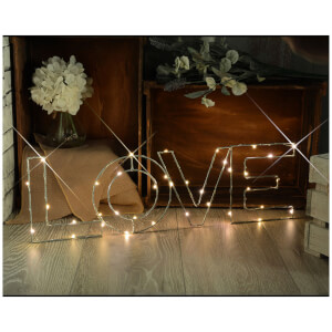 Lyyt Wire Frame Love Lighting Metal Motif - Warm White
