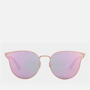 McQ Alexander McQueen Women's Metal Frame Catseye Sunglasses - Gold/Gold/Pink