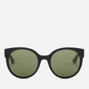 Gucci Women's Club Master Sunglasses - Black/Green