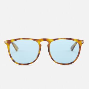 Gucci Men's Tortoise Frame Sunglasses - Blue