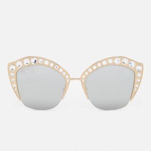 Gucci Women's Cat Eye Sunglasses - Gold/Silver