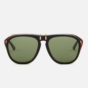 94c45020e5 Gucci Men s Aviator Sunglasses - Green Brown