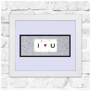Playing Card Co 'I Love U' Framed Vintage Style Playing Cards - 30x 25cm