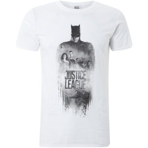 T-Shirt Homme Silhouette Justice League Batman DC Comics - Blanc