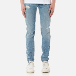 Marcelo Burlon Men's Blue Wing Slim Fit Jeans - Strong Wash