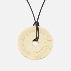 MM6 Maison Margiela Women's Washer Necklace - Brass