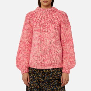 Ganni Women's The Julliard Mohair Jumper - Sea Pink