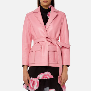 Ganni Women's Passion Biker Jacket - Pink
