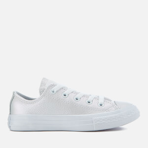 Converse Kids' Chuck Taylor All Star Ox Trainers - White/White/White