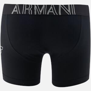 Emporio Armani Men's Stretch Cotton Boxer Shorts - Nero: Image 2