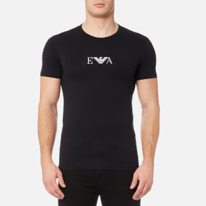 Emporio Armani Men's 2 Pack Cotton Stretch Crew Neck T-Shirt - Nero