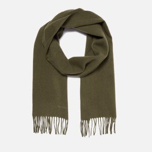 Barbour Lambswool Woven Scarf - Olive
