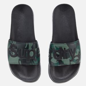 Superdry Men's Pool Slide Sandals - Black/Camo