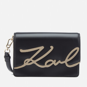 Karl Lagerfeld Women's Signature Shoulder Bag - Black