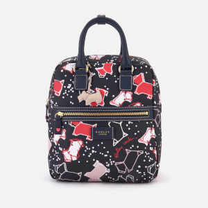 Radley Women's Speckle Dog Medium Zip-Top Backpack - Ink