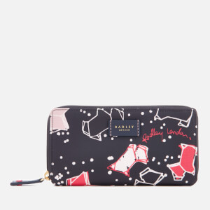 Radley Women's Speckle Dog Large Zip Around Matinee Purse - Ink