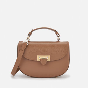 Aspinal of London Women's Letterbox Saddle Bag - Camel