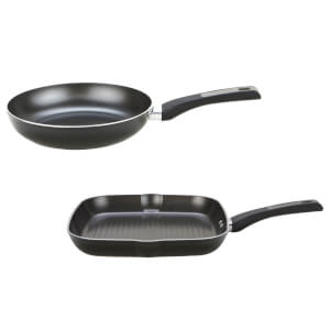 Prestige Dura Forge 25cm Fry Pan and 28cm Grill Pan Set