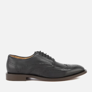 Hudson London Men's Whitman Hi Shine Leather Brogues - Black
