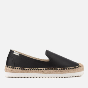 Soludos Women's Mix Sole Platform Slipper Espadrilles - Black