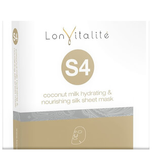 Lonvitalite S4 Coconut Milk Hydrating and Nourishing Silk Sheet Mask Satchel 25ml (Free Gift)