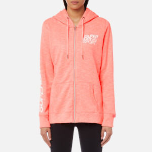 Superdry Sport Women's Essentials Zip Hoody - Vivid Coral Marl