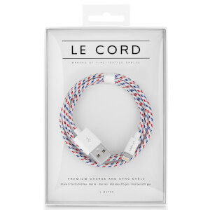 Le Cord Spiral Textile Lightning Cable (1m)