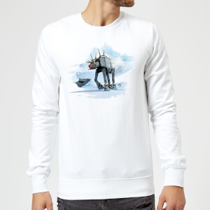 Star Wars AT-AT Christmas Reindeer White Christmas Sweater
