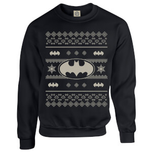DC Batman Christmas Bat Knit Black Christmas Sweatshirt