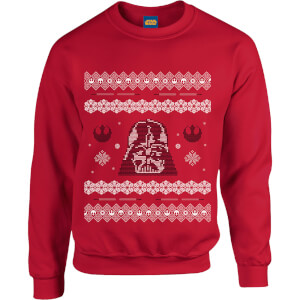 Star Wars Darth Vader Christmas Weihnachtspullover - Rot