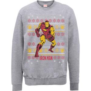 Marvel Comics The Invincible Ironman Grey Christmas Sweatshirt