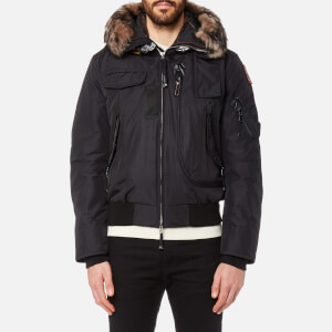 Parajumpers Men's Gobi Faux Fur Bomber Jacket - Black