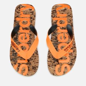 Superdry Men's Cork Flip Flops - Black Fleck/Fluro Orange