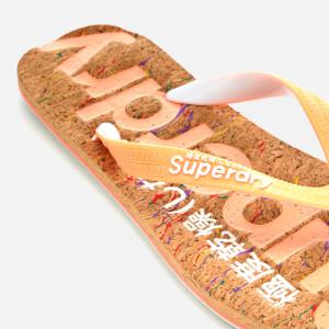 Superdry Women's Cork Flip Flops - Multi Fleck/Fluro Coral: Image 3