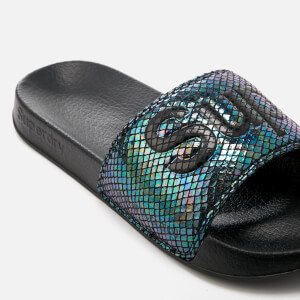 Superdry Women's Superdry Pool Slide Sandals - Petrol Snake: Image 3