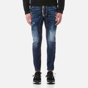 Dsquared2 Men's Tidy Biker Swallow Detail Jeans - Navy