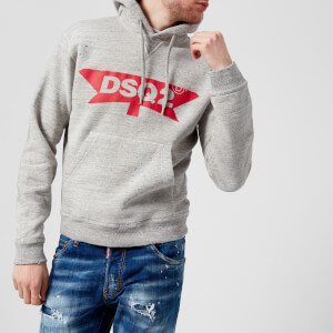 Dsquared2 Men's Dsq2 Logo Dan Fit Hoody - Grey Melange: Image 1