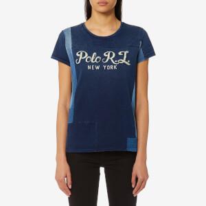 Polo Ralph Lauren Women's Logo Patchwork T-Shirt - Indigo