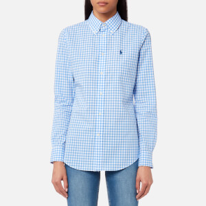 Polo Ralph Lauren Women's Poplin Gingham Shirt - Blue