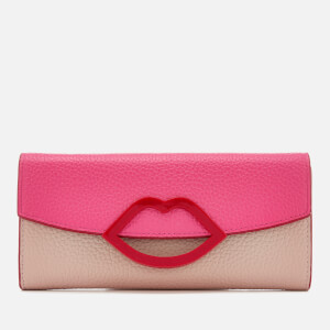 Lulu Guinness Women's Trisha Colour Block Wallet - Peony/Nude Rose