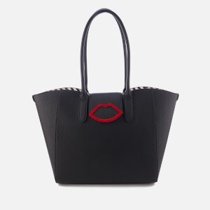 Lulu Guinness Women's Sofia Large Cupids Bow Tote Bag - Black