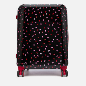 Lulu Guinness Women's Medium Confetti Lip Print Hardside Suitcase - Multi