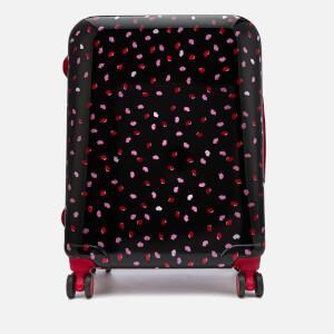 Lulu Guinness Women's Medium Confetti Lip Print Hardside Suitcase - Multi