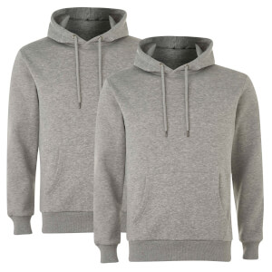 Native Shore Men's Essential 2 Pack Hoody - Light Grey Marl