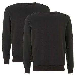 Native Shore Men's Essential 2 Pack Sweatshirt - Black