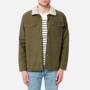 Levi's Men's Military Sherpa Jacket - Olive Night